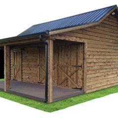 Board w/ Porch, Metal Roof