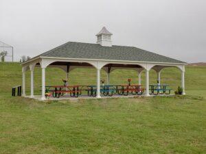 Traditional Vinyl Pavilion w/ custom cupola