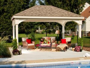 Traditional Vinyl Pavilion in ivory